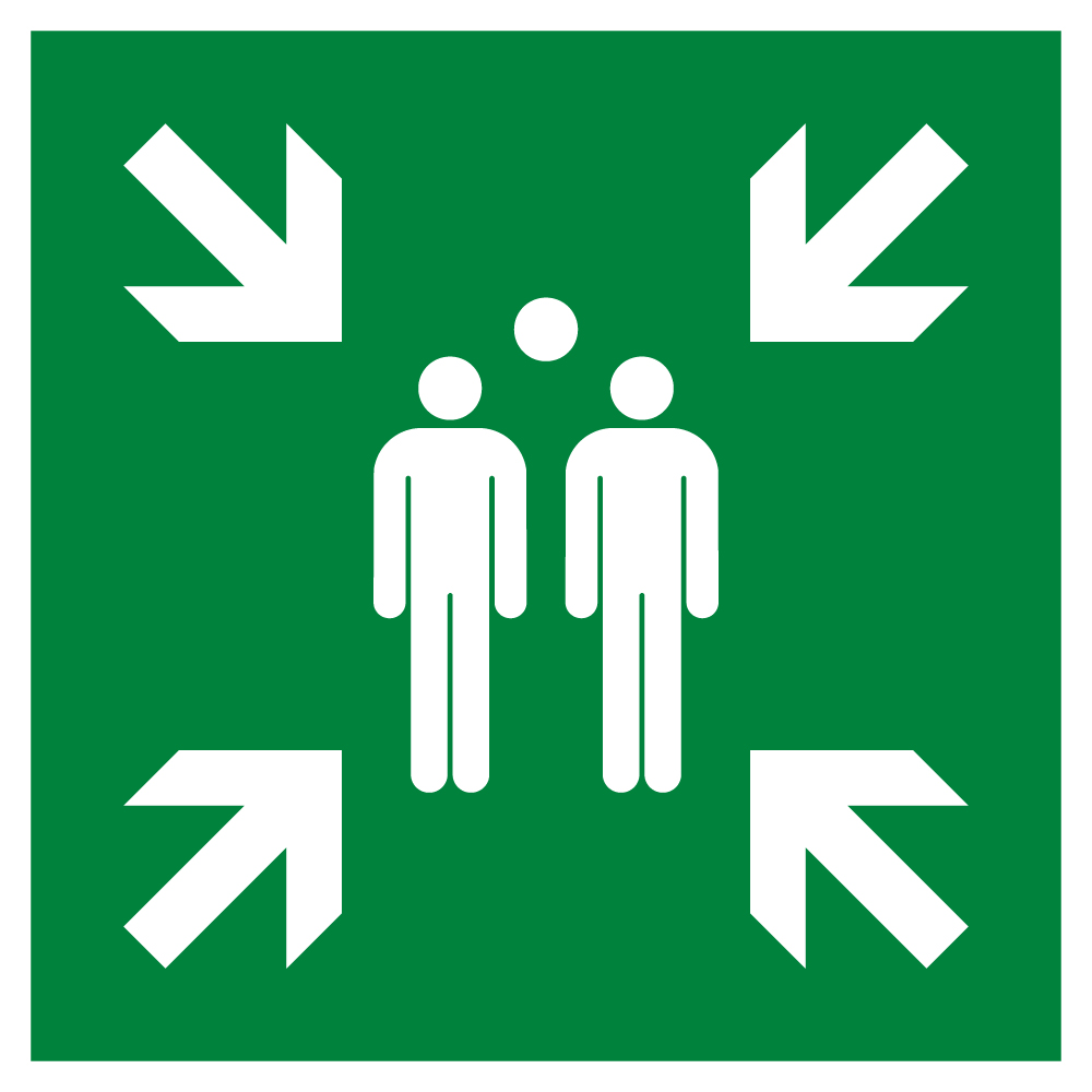 Evacuation assembly point Symbol | High Quality Vector Sign