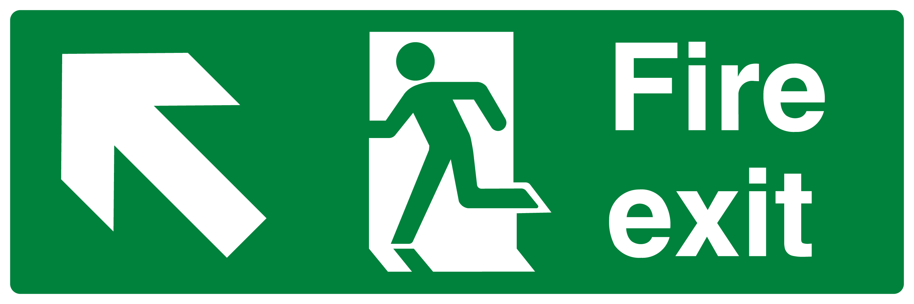 Fire Exit Running Man Arrow Up Left