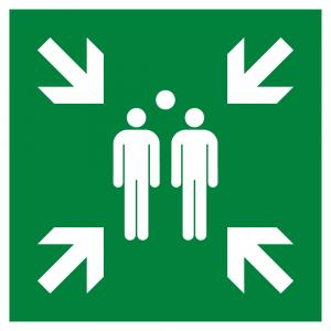 Evacuation assembly point Symbol