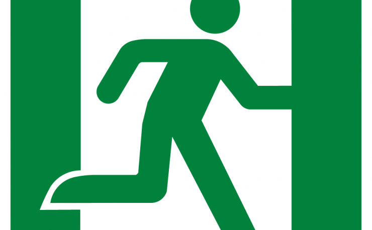 Running Man Right Symbol