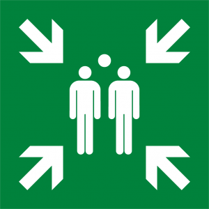 Evacuation Assembly Point Symbol