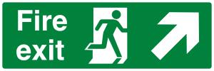 Fire Exit Running Man Arrow Up Right