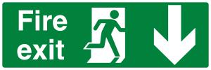 Fire Exit Running Man Down
