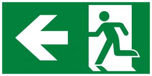 Arrow Left Running Man Left