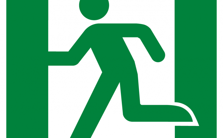 Running Man Left Symbol